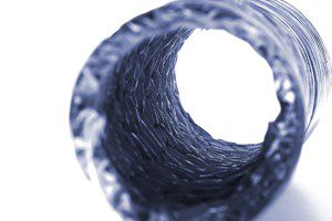 Isolated Blue Dryer Vent Hose