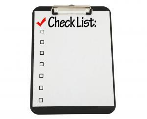 house cleaning check list